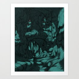 The Search for Pirx on Titan Art Print