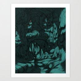 The Search for Pirx on Titan Art Print