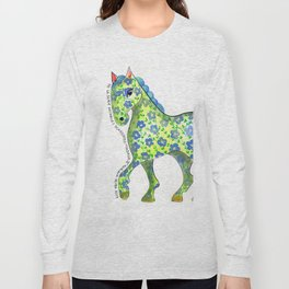 Caballo Serie amimales domésticos colombianos Long Sleeve T-shirt