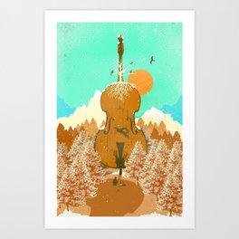 NATURE CELLO Art Print