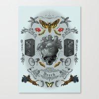 rorschach Canvas Prints featuring Rorschach by Dreck Design