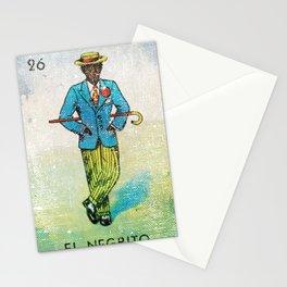 El Negrito Mexican Loteria Bingo Card Stationery Cards