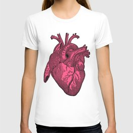 hot pink heart T-shirt