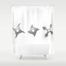 Ninja Weapons - Shurikens Shower Curtain