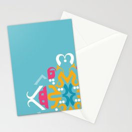 Blue Arabic Stationery Cards
