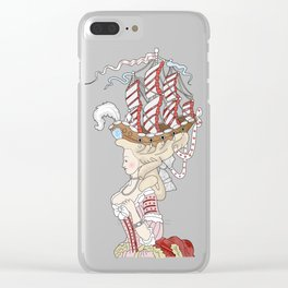 Marie Antoinette Clear iPhone Case