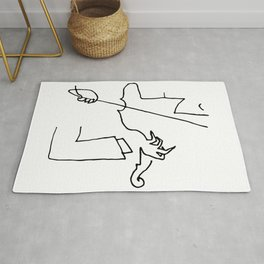 Saul Steinberg Violinist Violin Player American Cartoonist Artwork Reproduction for Prints Posters T Rug