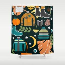 Autumn clothing Shower Curtain