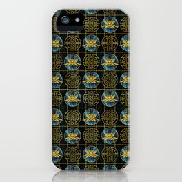 Luxury Chinese Golden Lotus on Abalone iPhone Case