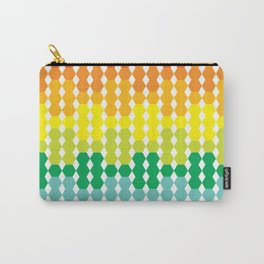 Rainbow Hex Gradient Carry-All Pouch