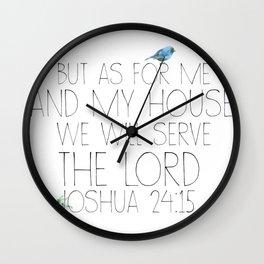 joshua 24:15 Wall Clock