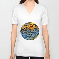 geology V-neck T-shirts featuring mountain by Alexandr-Az