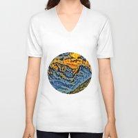 geology V-neck T-shirts featuring mountain by Alexandr-Az