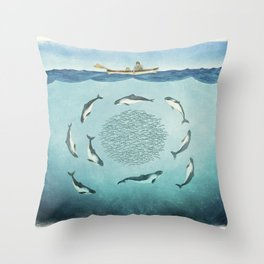 Porpoises Throw Pillow