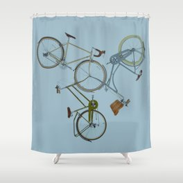 3 bikes Shower Curtain