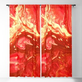 Fluid Nature - Fanning The Flames - Abstract Acrylic Artwork Blackout Curtain