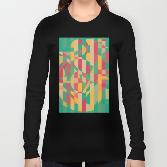 Abstract Graphic Art - Contemporary Music Long Sleeve T-shirt