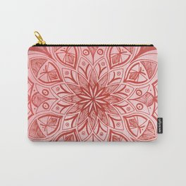 Organic Mandala - Red Carry-All Pouch