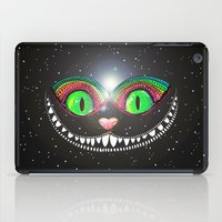 cheshire cat iPad Cases featuring Cheshire Cat by Luna Portnoi