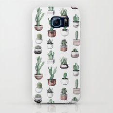 Cactus + Succulents Rose Gold Pattern by Nature Magick Galaxy S6 Slim Case