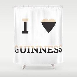 I heart Guinness Shower Curtain