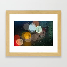 Bokeh and Water Drops Framed Art Print