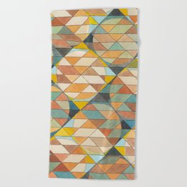 Triangles and Circles Pattern no.23 Beach Towel