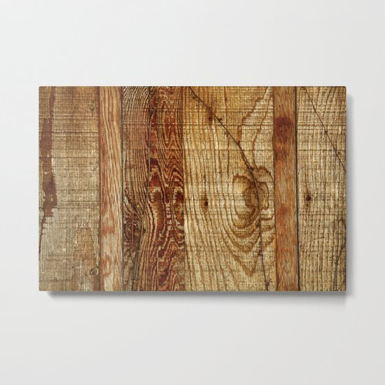 Wood Photography Metal Print
