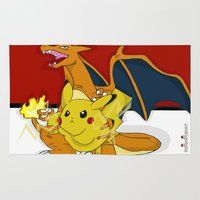 charizard Area & Throw Rugs featuring PokeyBall by ItalianRicanArt