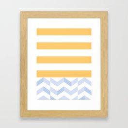 BEACHSTRIPES Framed Art Print