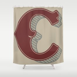 BOLD 'C' DROPCAP Shower Curtain
