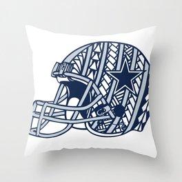 Polynesian Style Cowboys Throw Pillow