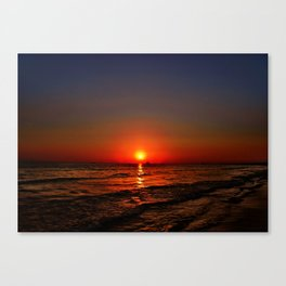 Sonnenuntergang am Meer Canvas Print