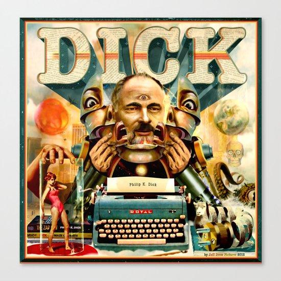 Portrait of Philip K. Dick Canvas Print