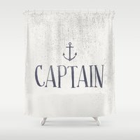 captain silva Shower Curtains featuring Captain by More Than Cake
