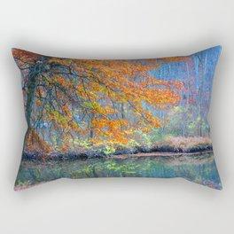 Fall on the River Rectangular Pillow