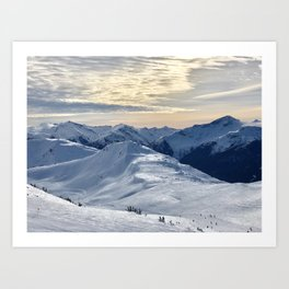 Beautiful Winter Snowy Mountains Art Print
