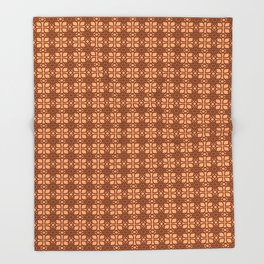Brown abstract pattern Throw Blanket
