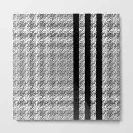 ZS Zenta Stripes 04B Metal Print