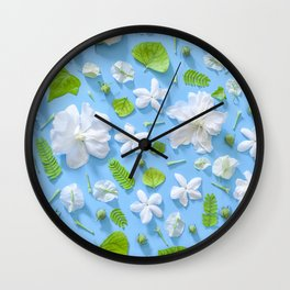 Leaves and flowers pattern (16) Wall Clock