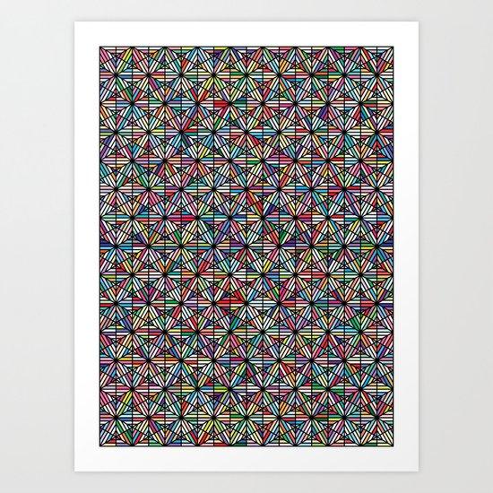 Cuben Offset Geometric Art Print. Art Print