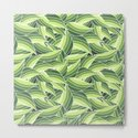GREENERY LEAVES W  (abstract flowers nature) by absentisdesigns