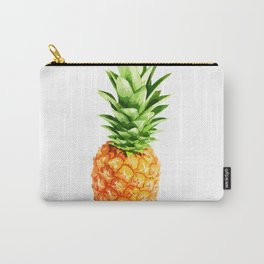 Pineapple, blue stripes, kitchen poster, garden poster, white version Carry-All Pouch