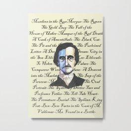 Poe Titles Metal Print