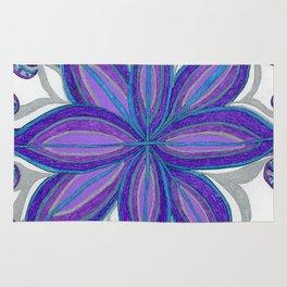 Bloom in Aqua & Purple Rug