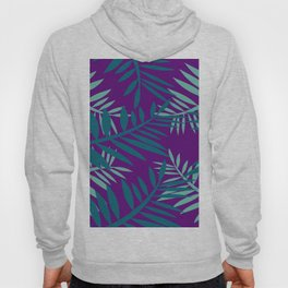 Big Fern Leaves violet Hoody