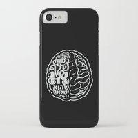 brain iPhone & iPod Cases featuring Brain by RomaM