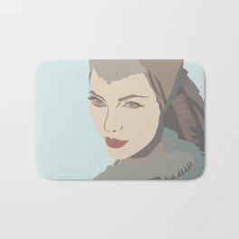 Angelina Jolie from Maleficent movie illustration Bath Mat