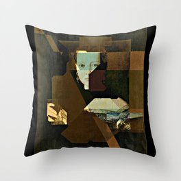 Marie v2 Bronzino Throw Pillow