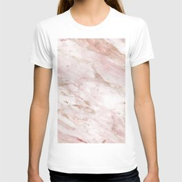 Pink marble - rose gold accents T-shirt